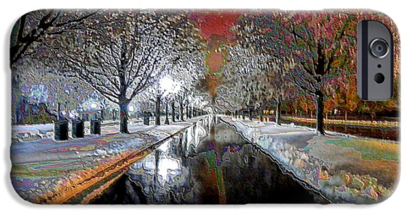 Keeneland iPhone Cases - Icy Entrance to Keeneland iPhone Case by Christopher Hignite