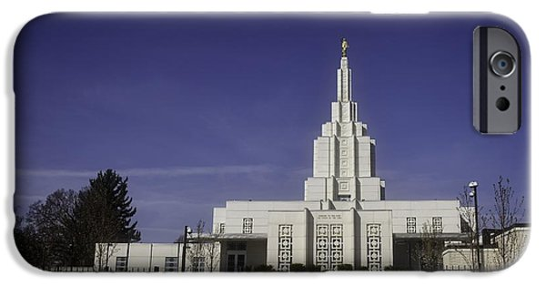 Angel Moroni iPhone Cases - Idaho Falls Temple iPhone Case by Image Takers Photography LLC - Carol Haddon
