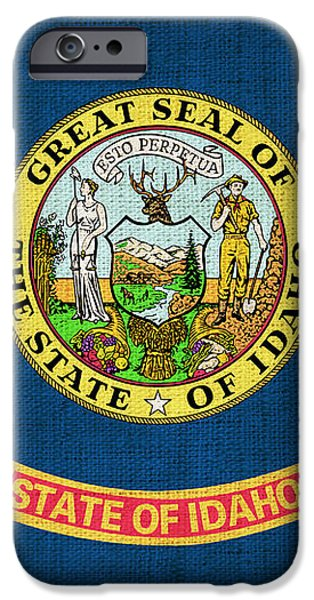 Idaho state flag iPhone Case by Pixel Chimp