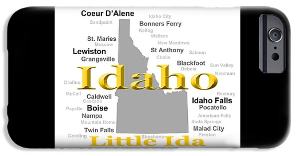 Lewiston iPhone Cases - Idaho State Pride Map Silhouette  iPhone Case by Keith Webber Jr
