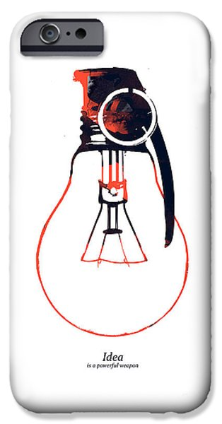 Creativity iPhone Cases - Idea is a powerful weapon iPhone Case by Budi Kwan
