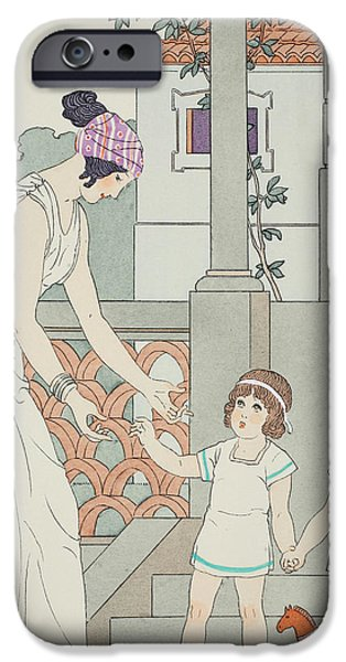 Greek Art iPhone Cases - Identical Twins iPhone Case by Joseph Kuhn-Regnier