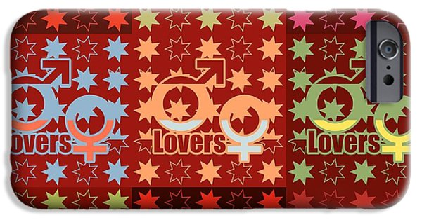 Discrimination iPhone Cases - Identity symbols in pop art iPhone Case by Toppart Sweden