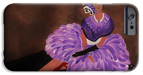 Dance Floor Paintings iPhone Cases - Identity Unknown iPhone Case by Barbara St Jean