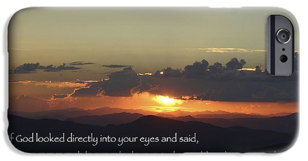Prescott iPhone Cases - If God Looked Into Your Eyes iPhone Case by MH Ramona Swift