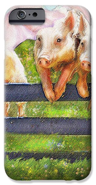 If Pigs Could Fly iPhone Case by Jane Schnetlage