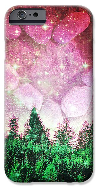 Gaia Digital iPhone Cases - If The Sky Was Pink... iPhone Case by Absinthe Art By Michelle LeAnn Scott