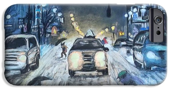 Snowy Pastels iPhone Cases - If Winter Comes ... iPhone Case by Frank Giordano