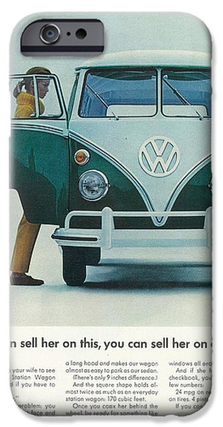 Old Bus Stations iPhone Cases - If You Can Sell Her On This..... You Can Sell Her On Anything iPhone Case by Nomad Art And  Design
