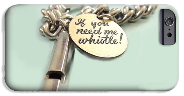 Jewelry Greeting Cards iPhone Cases - If You Need Me Whistle iPhone Case by Diane McElhaney