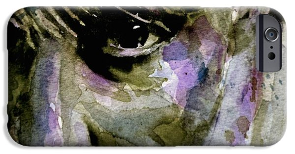 Young Paintings iPhone Cases - Iggy iPhone Case by Paul Lovering