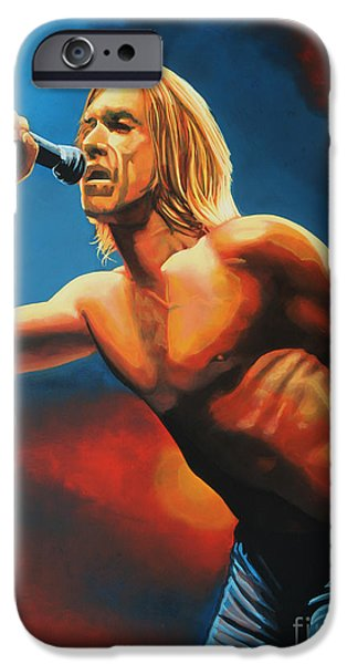 Iguana iPhone Cases - Iggy Pop iPhone Case by Paul  Meijering