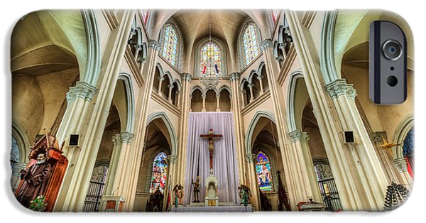 Indoor iPhone Cases - Iglesia de San Isidro de Coronado in Costa Rica iPhone Case by Andres Leon