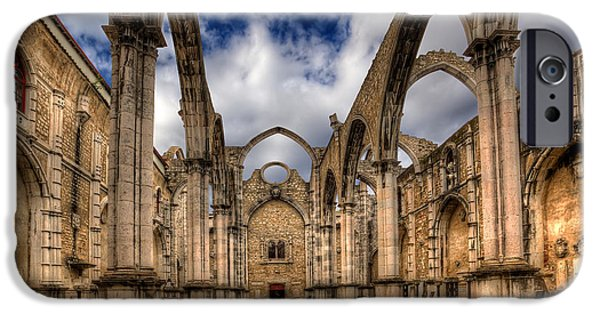 Corbal iPhone Cases - Igreja do Carmo Church iPhone Case by English Landscapes
