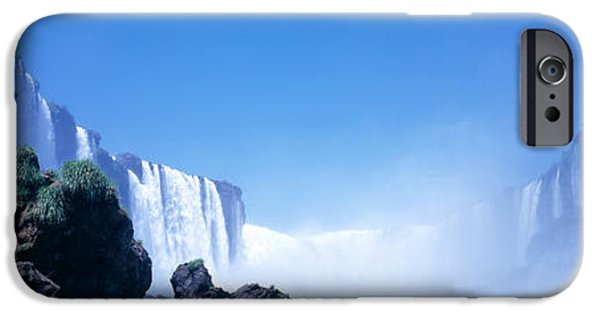 Fall iPhone Cases - Iguacu Falls, Parana, Brazil iPhone Case by Panoramic Images