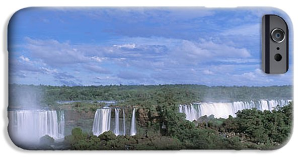 Descending iPhone Cases - Iguazu Falls Iguazu National Park Brazil iPhone Case by Panoramic Images
