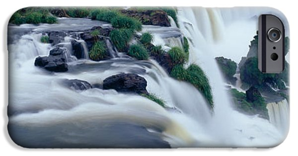 Turbulent Skies iPhone Cases - Iguazu Falls, Iguazu National Park iPhone Case by Panoramic Images