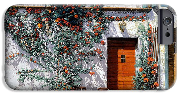 I Ask iPhone Cases - Il Cortile Bianco iPhone Case by Guido Borelli