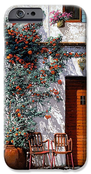 il cortile bianco iPhone Case by Guido Borelli