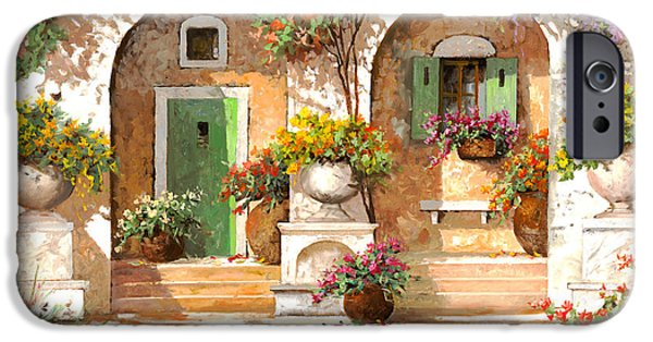 Arches iPhone Cases - Il Cortile iPhone Case by Guido Borelli