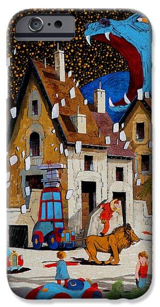Village iPhone Cases - Il Drago iPhone Case by Guido Borelli