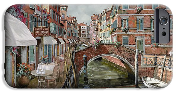 Dating iPhone Cases - Il Fosso Ombroso iPhone Case by Guido Borelli