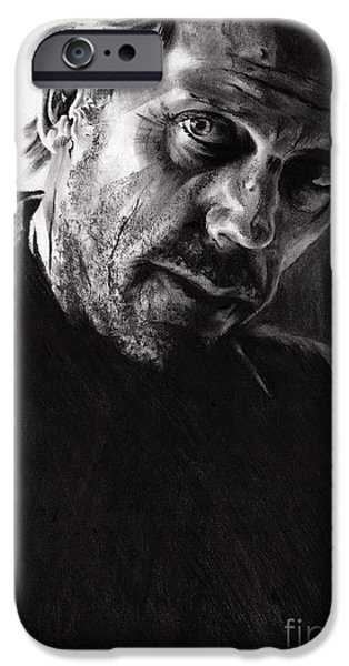 Figure iPhone Cases - Il kill you If you want me to iPhone Case by Paul Davenport