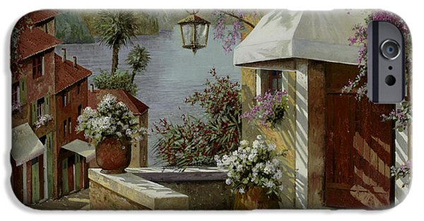 Lakescape iPhone Cases - Il Lampione Oltre La Tenda iPhone Case by Guido Borelli