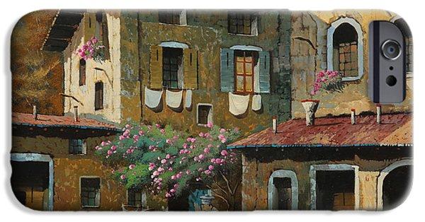 Village iPhone Cases - Il Notaio E Il Marinaio iPhone Case by Guido Borelli