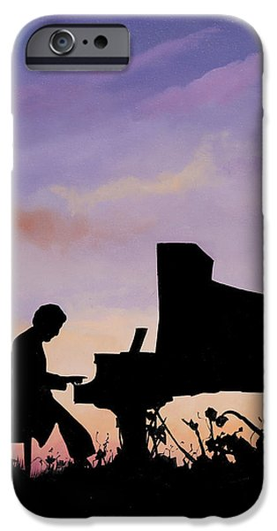Morning iPhone Cases - Il Pianista iPhone Case by Guido Borelli