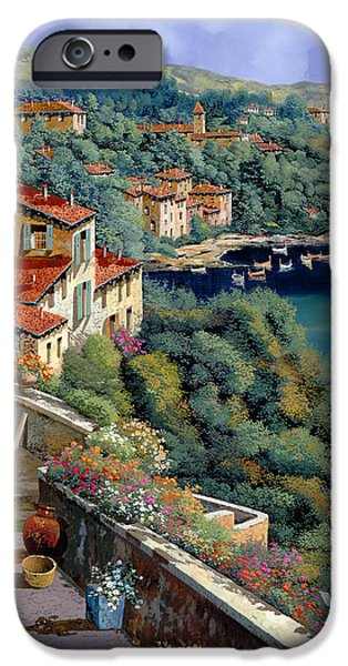 Tile Roofs iPhone Cases - Il Promontorio iPhone Case by Guido Borelli