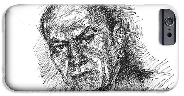 Movie Star Drawings iPhone Cases - Ilir Fatkoja  iPhone Case by Ylli Haruni