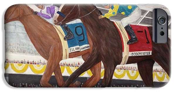 Tripple iPhone Cases - Ill Have Another wins preakness iPhone Case by Glenn Stallings
