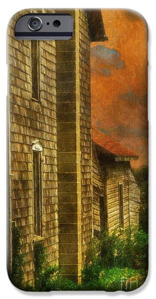 Rural Decay Digital Art iPhone Cases - Ill Take Everything - Painterly Version iPhone Case by Lois Bryan