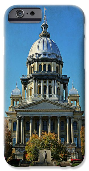 Historic Site iPhone Cases - Illinois State Capitol iPhone Case by Stephen Stookey
