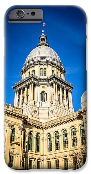 Illinois State Capitol in Springfield Illinois iPhone Case by Paul Velgos