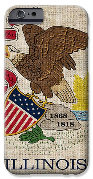 Illinois State Flag iPhone Case by Pixel Chimp