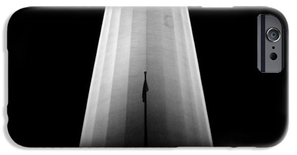 Flag Pyrography iPhone Cases - Illuminated Coit Tower Sfc iPhone Case by Fabien White