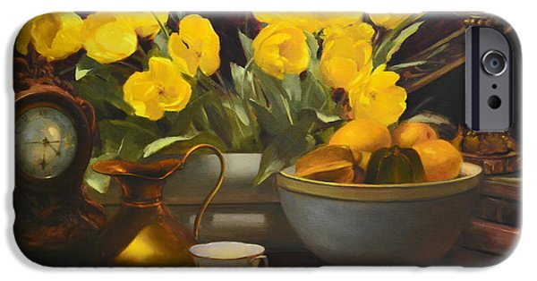 Old Pitcher Paintings iPhone Cases - Illuminated iPhone Case by Diane Reeves