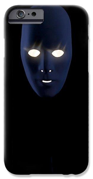 Creepy iPhone Cases - Illuminated Mask iPhone Case by Joana Kruse