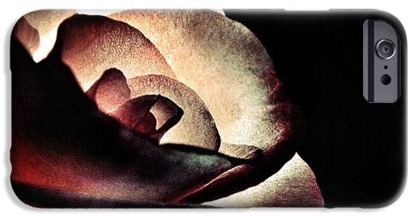 Illuminated iPhone Cases - Illuminated Rose  iPhone Case by Marianna Mills