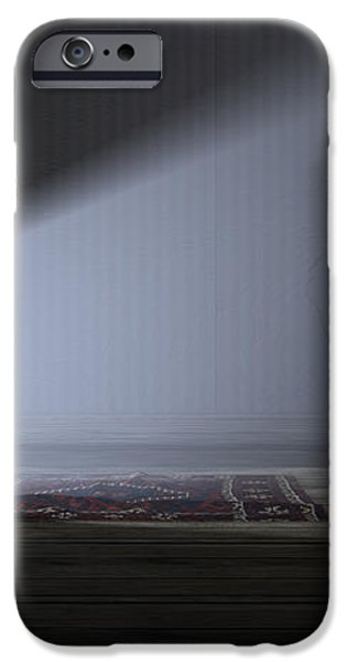 Illuminated Television And Lonely Old Couch iPhone Case by Allan Swart