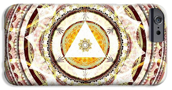 Mandala iPhone Cases - Illumination Circle iPhone Case by Anastasiya Malakhova