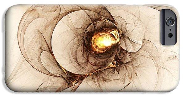 Gold Digital Art iPhone Cases - Illusion of Choice iPhone Case by Anastasiya Malakhova