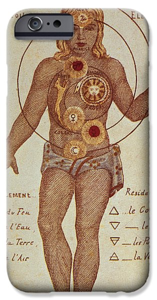 Philosophy iPhone Cases - Illustration From Theosophica Practica, Showing The Seven Chakras, 19th Century iPhone Case by Bridgeman Images