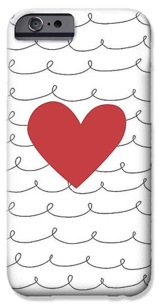 Secret Admirer iPhone Cases - Illustration Of A Heart iPhone Case by Daniel Sicolo