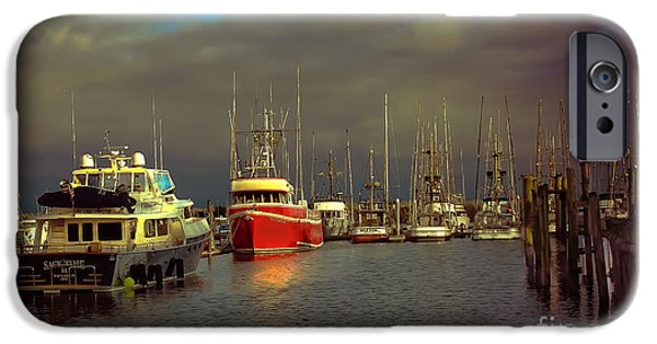 Drama iPhone Cases - Ilwaco Port iPhone Case by Robert Bales