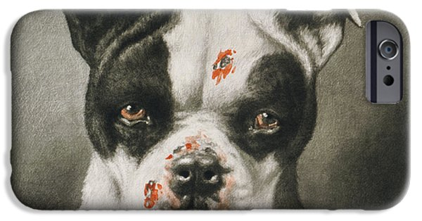 Purebred iPhone Cases - Im a bad dog What kind of a dog are you Circa 1895 iPhone Case by Aged Pixel
