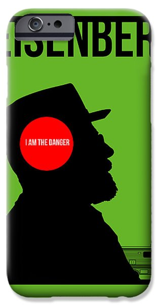 Film iPhone Cases - Im Danger Poster 1 iPhone Case by Naxart Studio