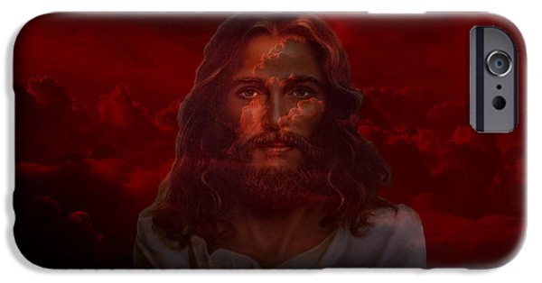 Religious Art iPhone Cases - IM Here iPhone Case by Evelyn Patrick